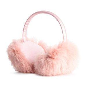 NWT H&M pink Faux Fur Earmuffs girls sz 8-14y